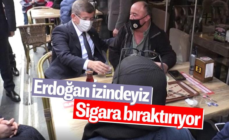 Ahmet Davutoğlu, vatandaştan sigarayı bırakmasını istedi