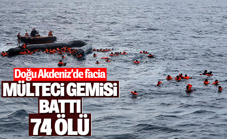 Libya'da mülteci teknesi battı: 74 ölü