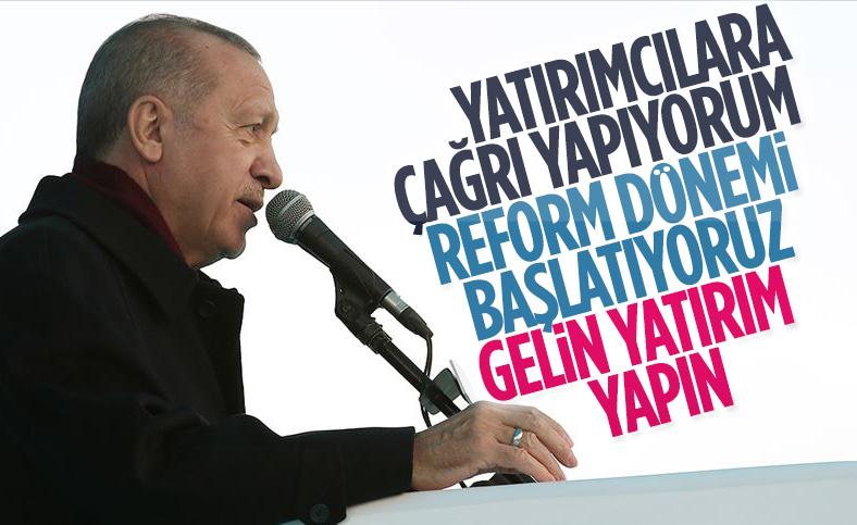 Cumhurbaşkanı Erdoğan: Reform dönemini başlatıyoruz