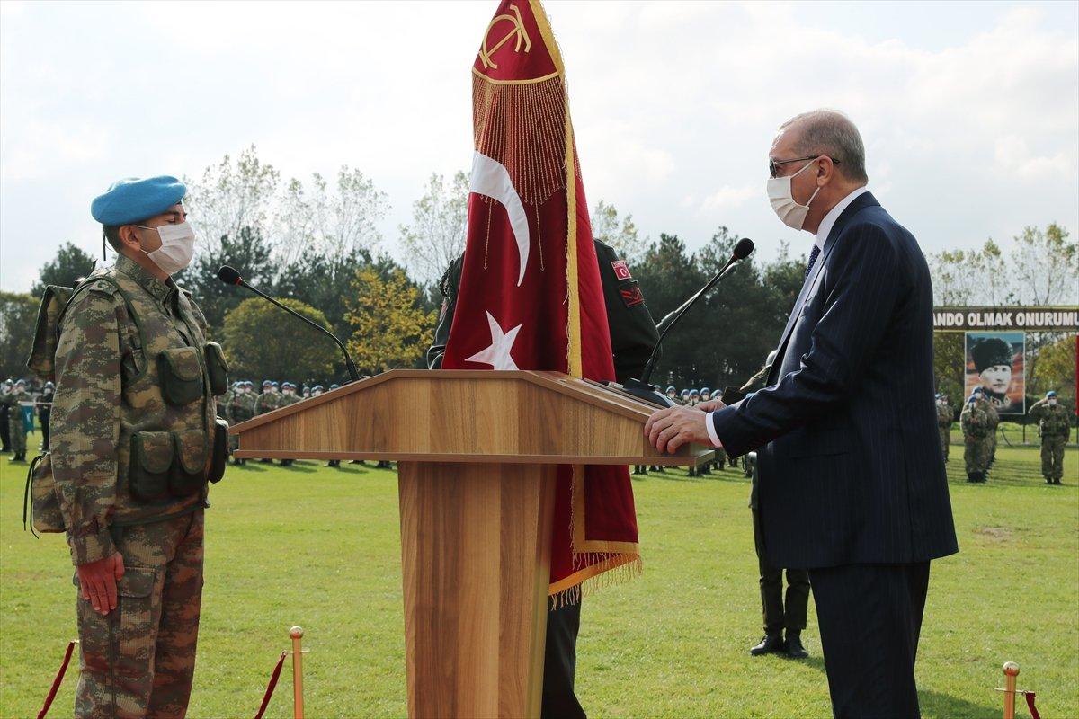 Cumhurbaşkanı Erdoğan sancak töreninde #1