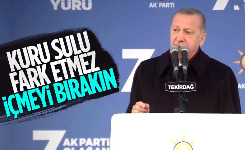 Cumhurbaşkanı Erdoğan, Tekirdağ'da sigarayı bırakın çağrısı yaptı