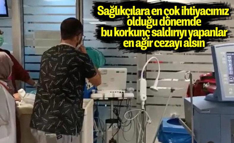 Ankara'da hasta yakınlarından sağlık çalışanlarına saldırı