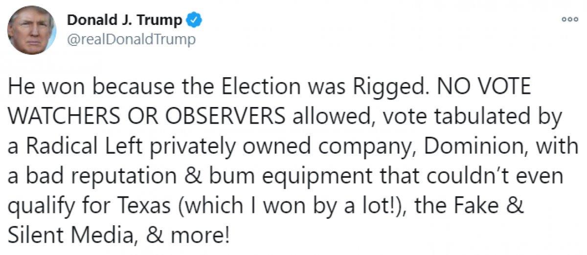 Donald Trump, seçimlere hile karıştırıldığı iddiasını yineledi #1