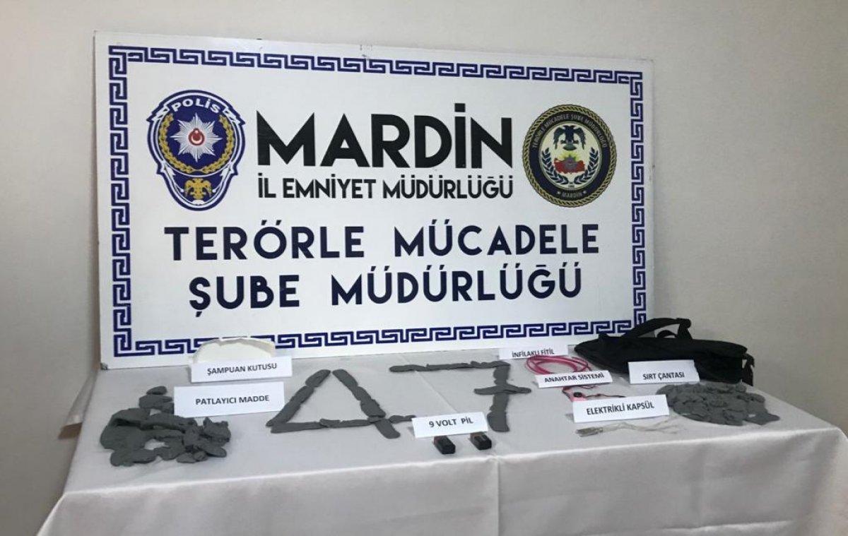 Mardin de, metropollerde eylem hazırlığında olan PKK lı yakalandı #1