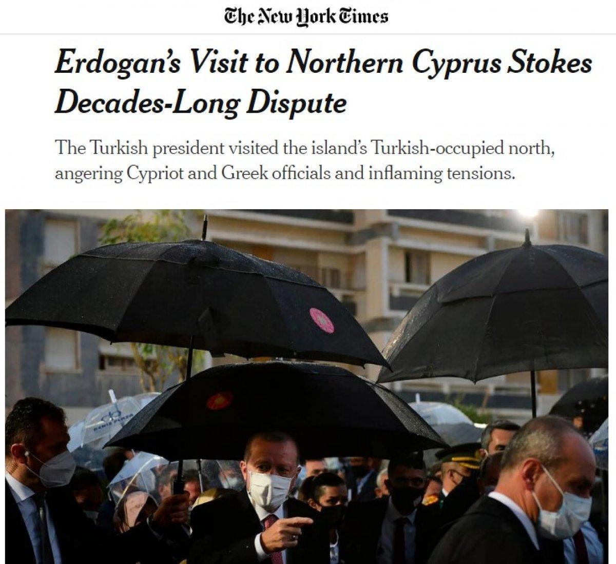 New York Times, Erdoğan'ın Kıbrıs ziyaretine provokasyon dedi #1