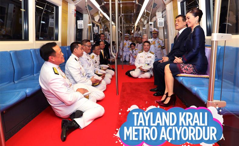 Tayland Kralı Maha Vajiralongkorn, metro istasyonu açılışına katıldı