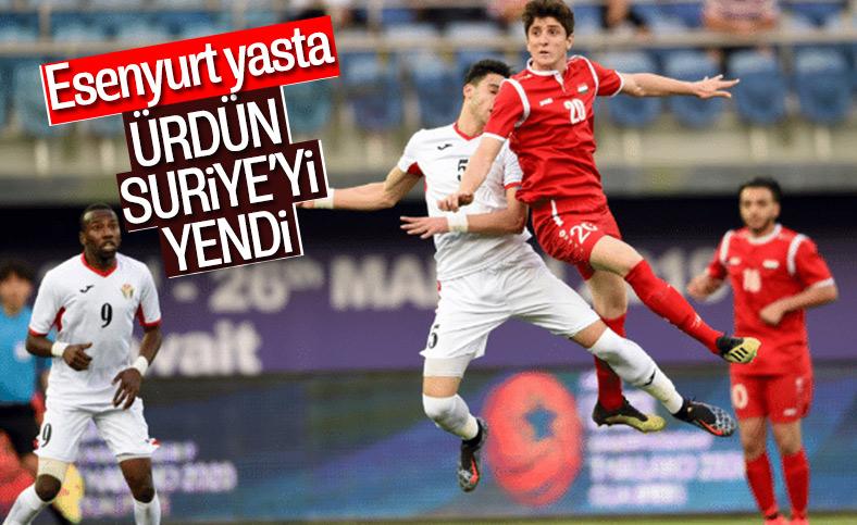 Ürdün, Suriye'yi tek golle geçti