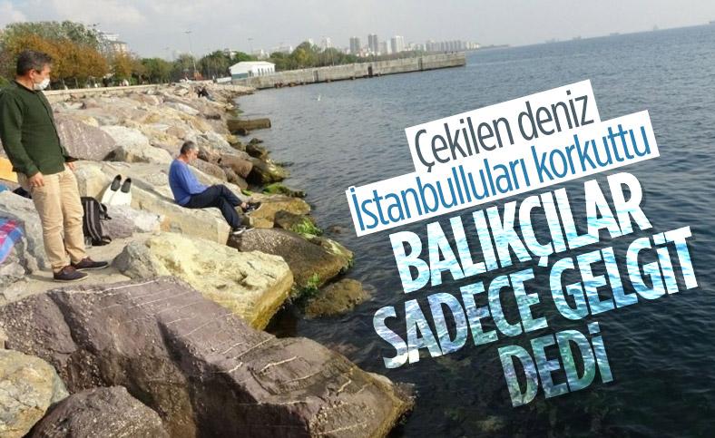 Kadıköy'de deniz sularının çekilmesi paniğe neden oldu