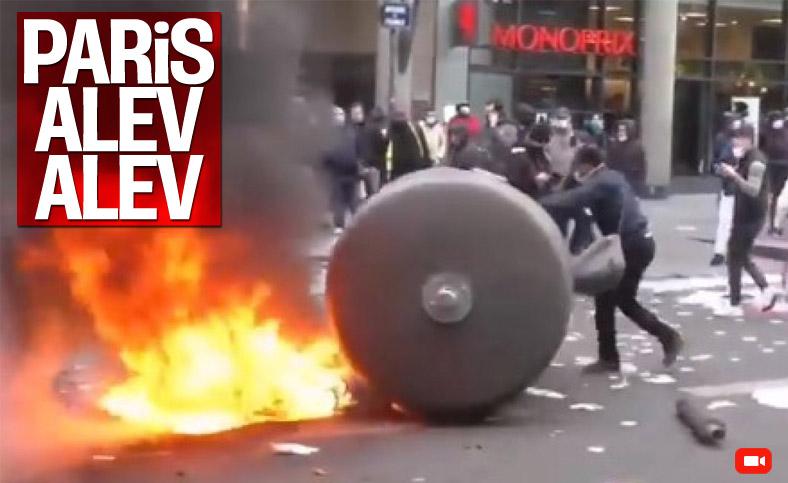 Fransa'da karantina protestosu