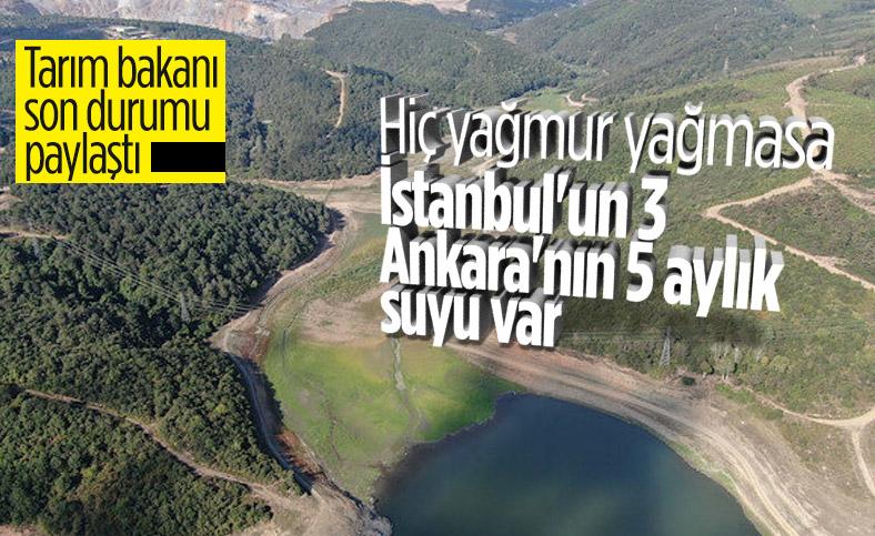 Bekir Pakdemirli: İstanbul ve Ankara'da su sıkıntısı yaşanmasını beklemiyoruz