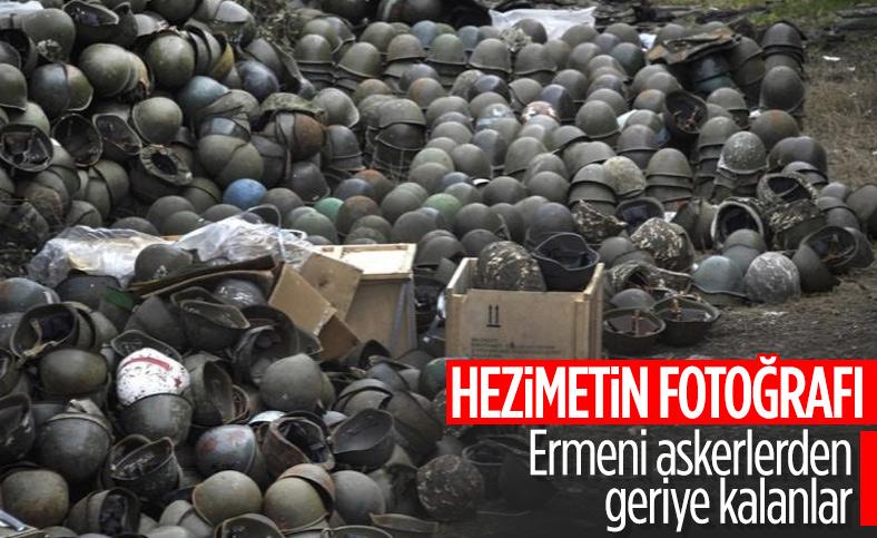 Şuşa'da Ermenilerden geriye çelik başlıklar kaldı