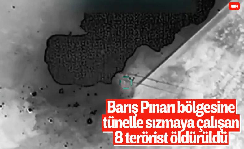 Barış Pınarı bölgesinde 8 PKK/YPG'li terörist öldürüldü