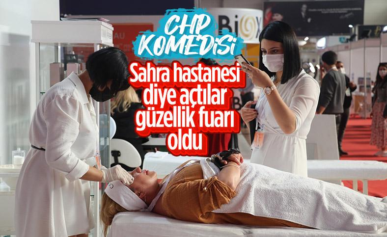 CHP'li Adana Belediyesi'nin sahra hastanesi güzellik fuarı oldu