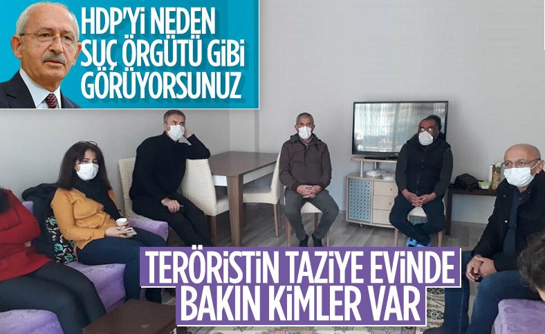 HDP'den öldürülen terörist İsmail Sürgeç'in ailesine taziye ziyareti