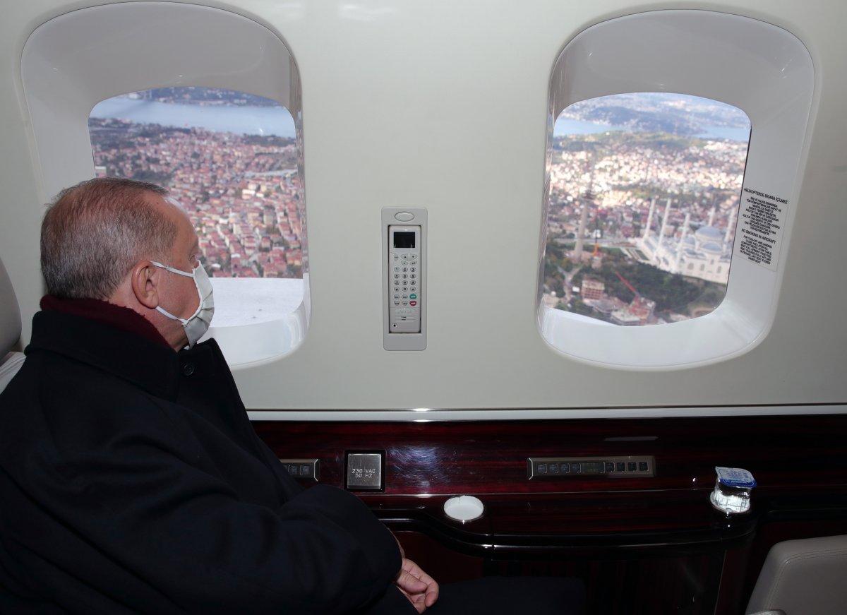 Cumhurbaşkanı Erdoğan, Çamlıca daki kulelerin kaldırılma çalışmalarını inceledi #2