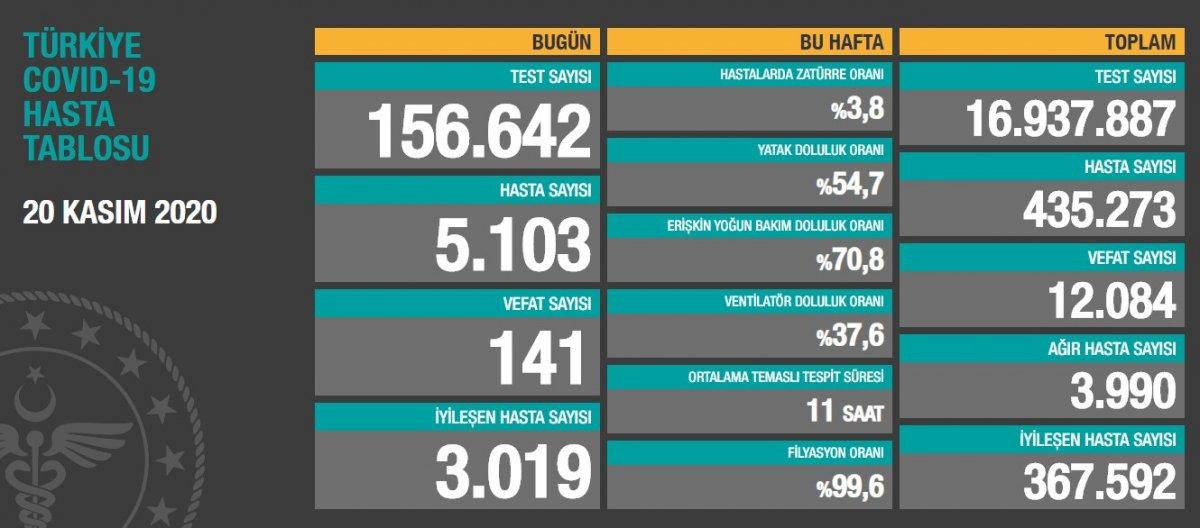 20 Kasım Türkiye de koronavirüs salgını  #1