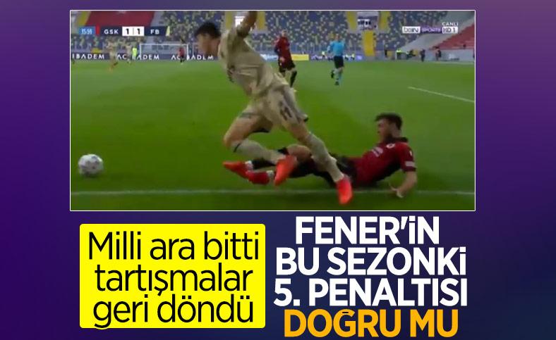 Fenerbahçe bu sezonki 5. penaltısını kazandı