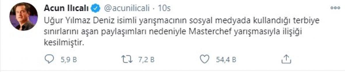 MasterChef Türkiye'de, Uğur diskalifiye edildi #1