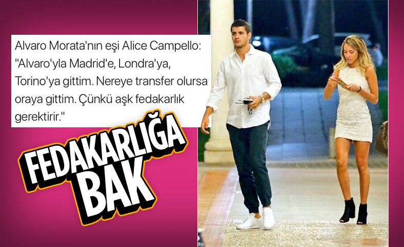 Alice Campello: Morata için Torino ve Madrid'e gittim