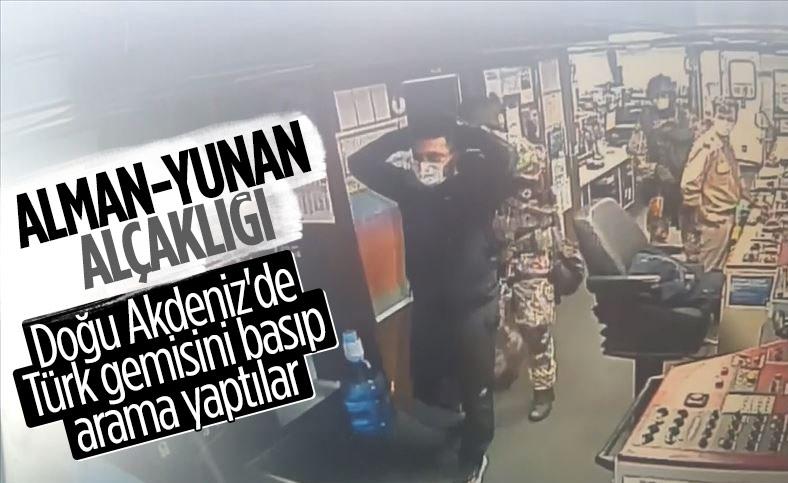 Doğu Akdeniz'de Türk gemisine hukuk dışı arama yapıldı