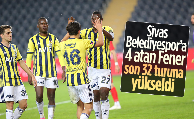 Fenerbahçe Türkiye Kupası'nda 4 golle turladı