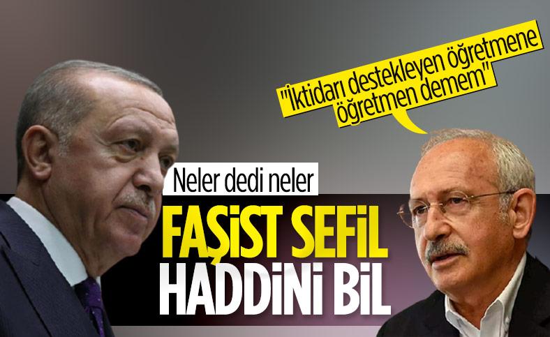 Erdoğan'dan Kılıçdaroğlu'na: Faşizmin en sefil örneğini öğretmenler gününde sergiledin