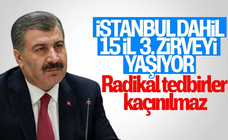 Fahrettin Koca: İstanbul dahil 15 il üçüncü zirveyi yaşıyor
