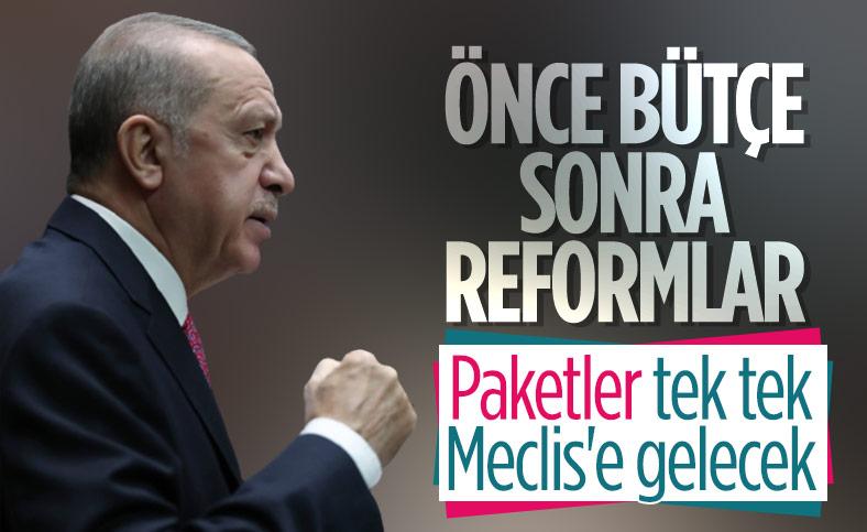 Cumhurbaşkanı Erdoğan: Bütçe sonrası reformlar gelecek