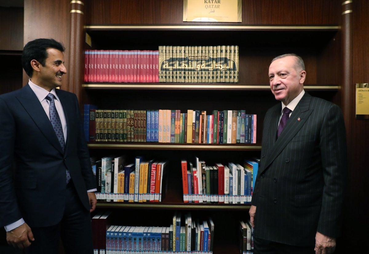 Cumhurbaşkanı Erdoğan, Katar Emiri Al Sani ile Millet Kütüphanesi ni gezdi #2