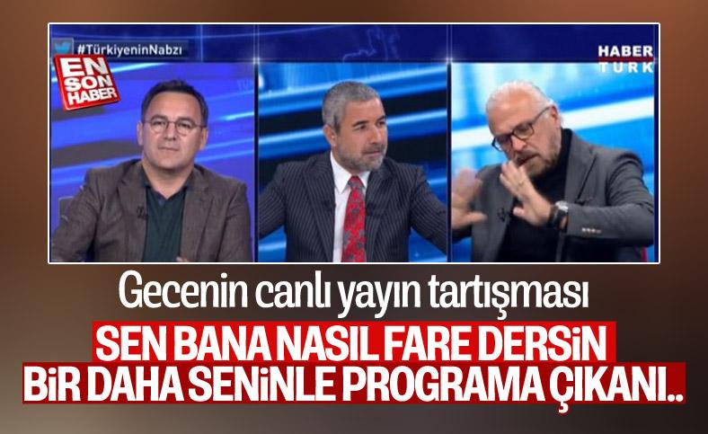 Habertürk'te Mete Yarar ile Deniz Zeyrek arasında fare tartışması