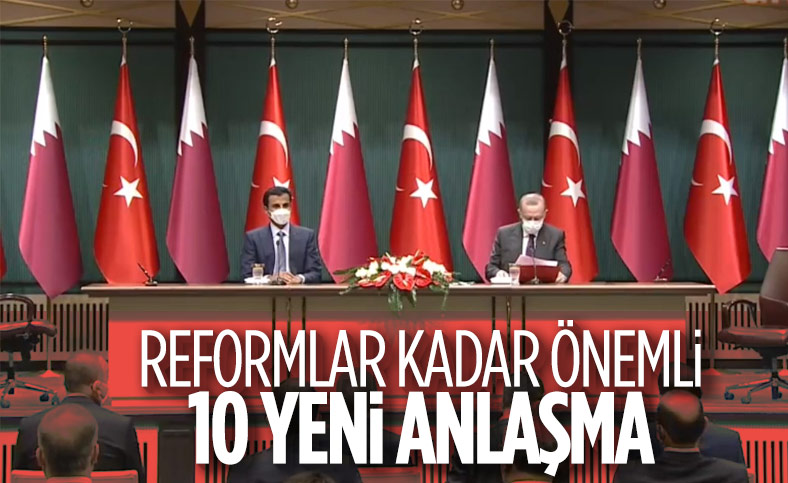 Türkiye ile Katar arasında 10 yeni anlaşma imzalandı