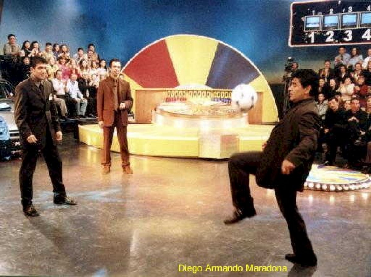 Maradona nın Çarkıfelek programındaki görüntüleri #1