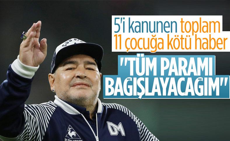 Maradona parasını bağışlayacağını açıklamıştı
