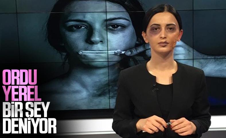 Ordu'da spiker, 'şiddet mağduru kadın' makyajıyla haber sundu