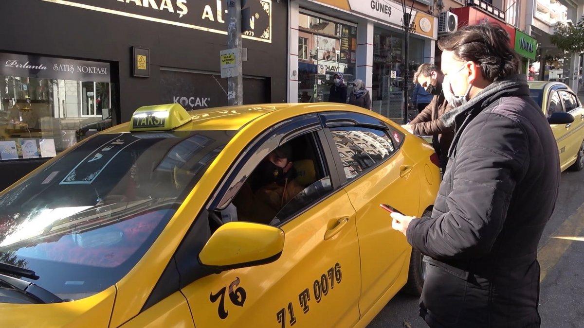 Kırıkkale de taksicilerin koronavirüs korkusu #5