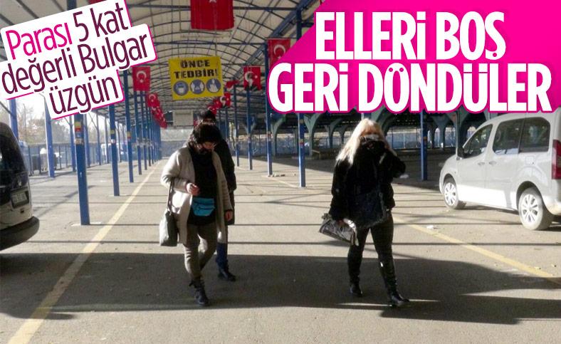 Edirne'nin Ulus Pazarı kapandı, Bulgarlar geri döndü