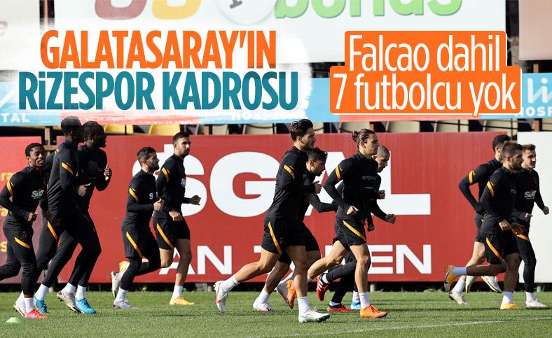 Galatasaray'ın Rizespor maçı kadrosu