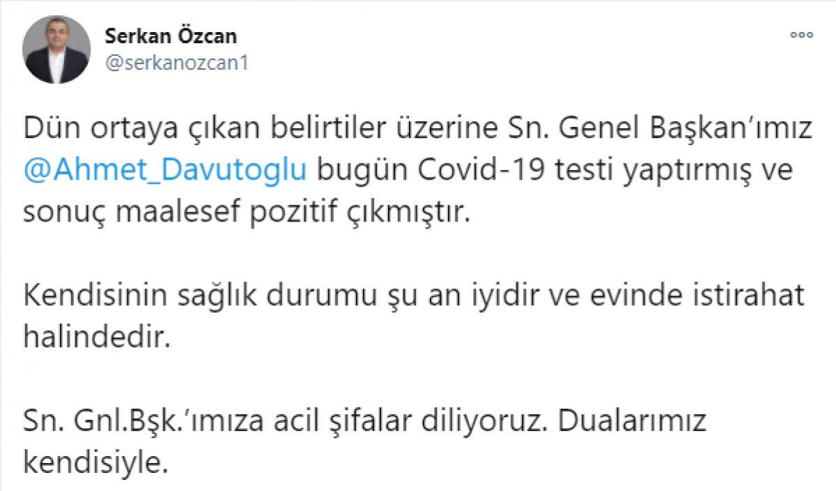 Ahmet Davutoğlu nun koronavirüs testi pozitif çıktı  #1
