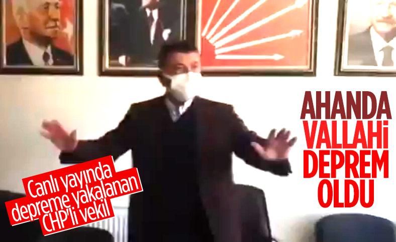 CHP'li Veli Ağbaba Malatya'daki depreme canlı yayında yakalandı