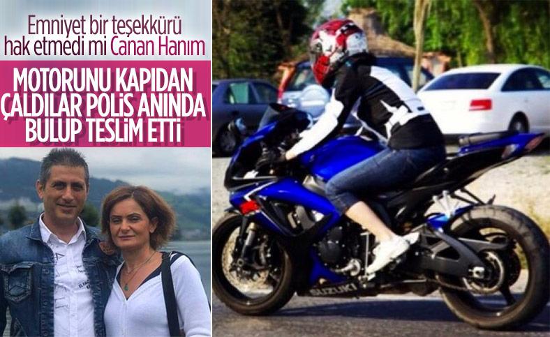 Canan Kaftancıoğlu'nun eşinin çalınan motosikleti bulundu