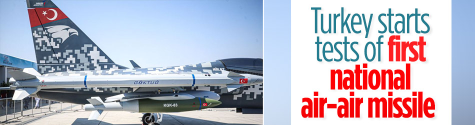 Turkey starts national air-air missile tests