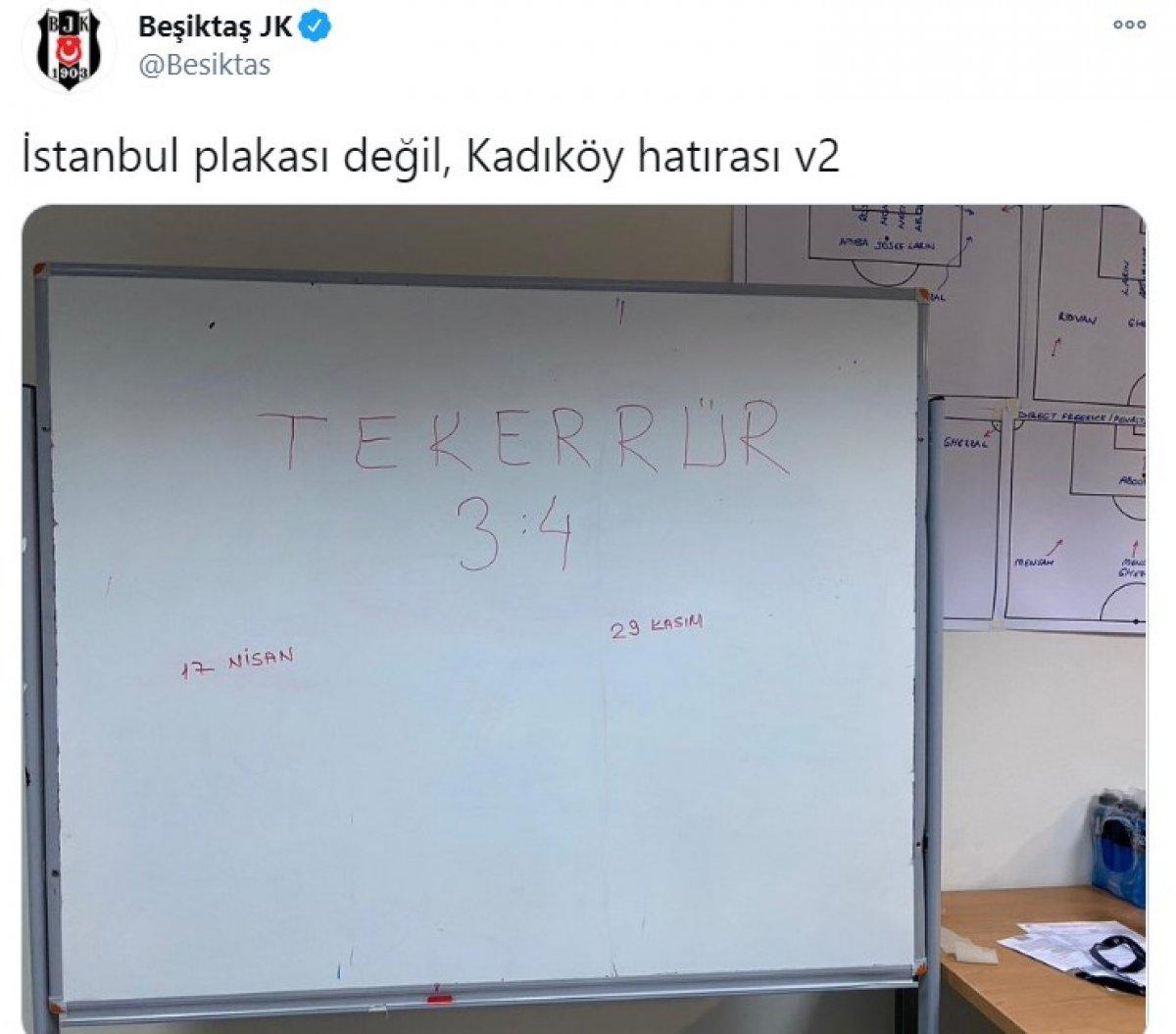Beşiktaş tan soyunma odası paylaşımı: Tekerrür #1
