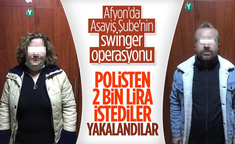 Afyonkarahisar eş değiştirme ilanı veren çift yakalandı