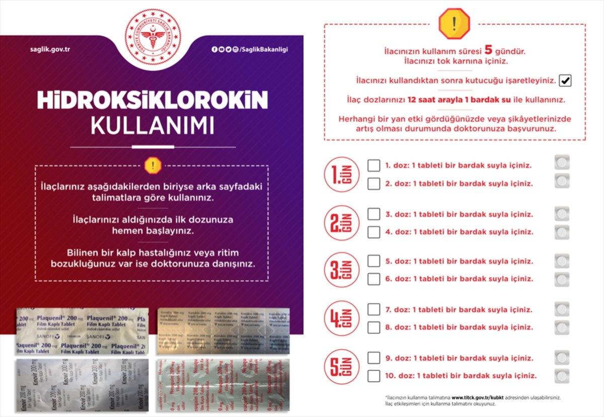 Sağlık Bakanlığı, koronavirüs ilaçlarının doğru kullanımı için broşür hazırladı #1