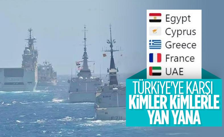 5 ülkeden Akdeniz'de ortak askeri tatbikat