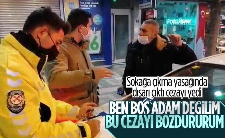Bursa'da kısıtlamada ceza yiyen vatandaş polisi tehdit etti