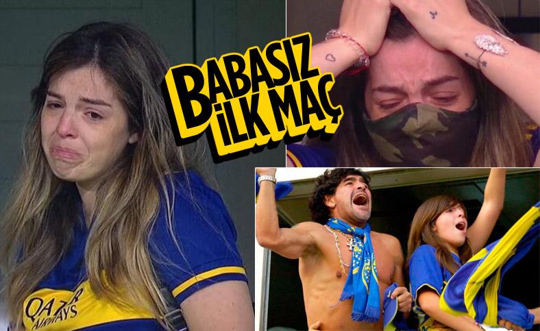 Maradona'nın kızı maçta gözyaşlarını tutamadı