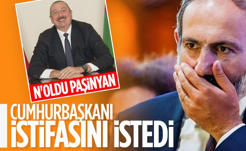 Ermenistan Cumhurbaşkanı Sarkisyan, Paşinyan'dan istifa etmesini istedi