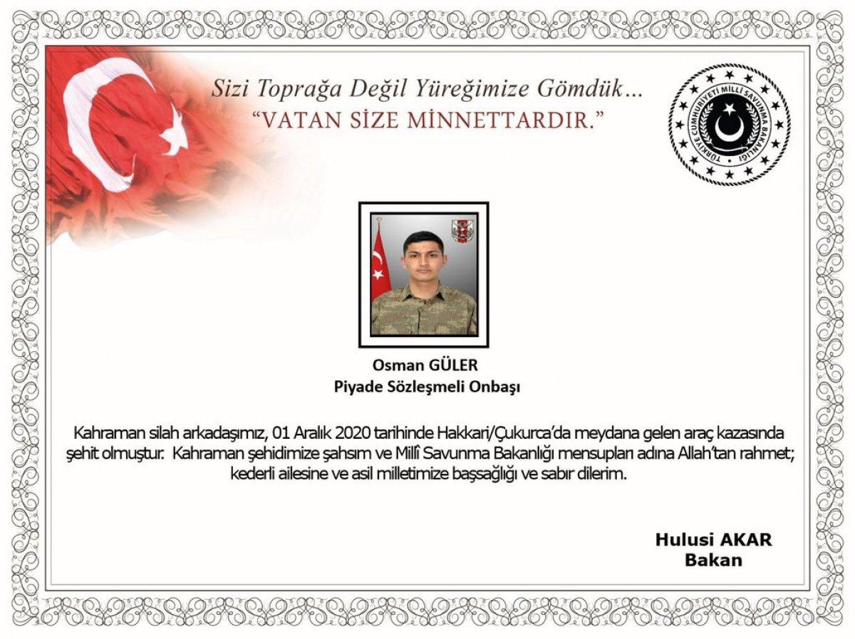 Kütahyalı Uzman Onbaşı Güler trafik kazasında şehit oldu #2