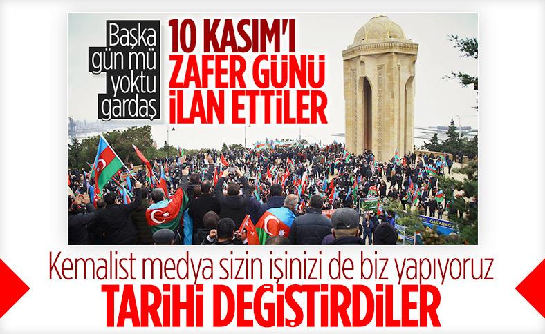 Azerbaycan Zafer Günü'nü 8 Kasım'a aldı